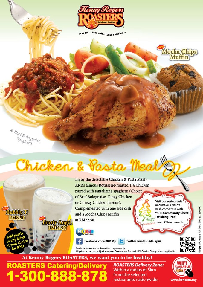 Chicken & Pasta Meal Promotion at Kenny Rogers ROASTERS ...