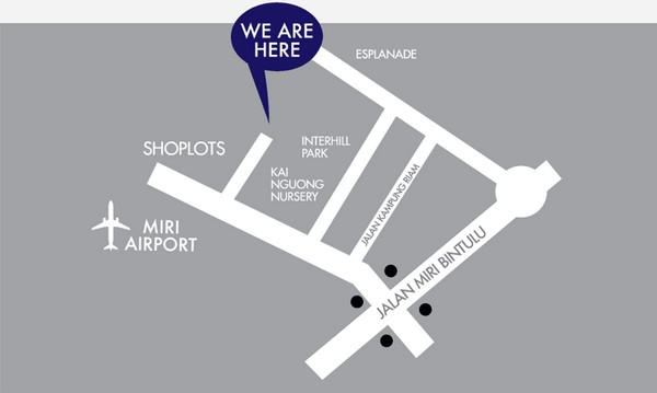 Homelite Resort Apartments Miri City Location Map