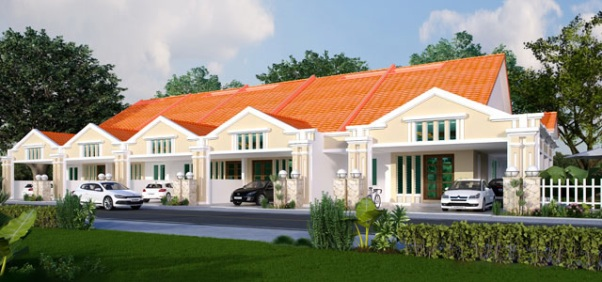 Palm Villa 5 Single Storey Terrace House