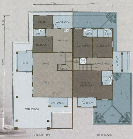 two storey semi detached house plans | house list disign