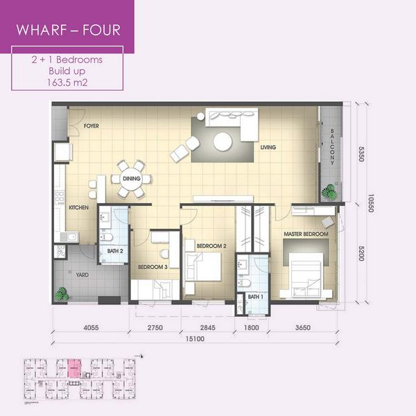 The Wharf Miri floorplan type 4