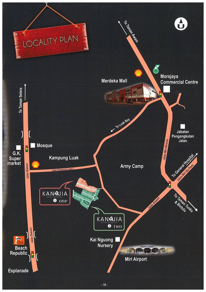 Location Map for Kan Jia Garden