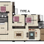 LiteView 4 Miri Apartment Type A Floorplan