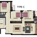 LiteView 4 Miri Apartment Type C Floorplan
