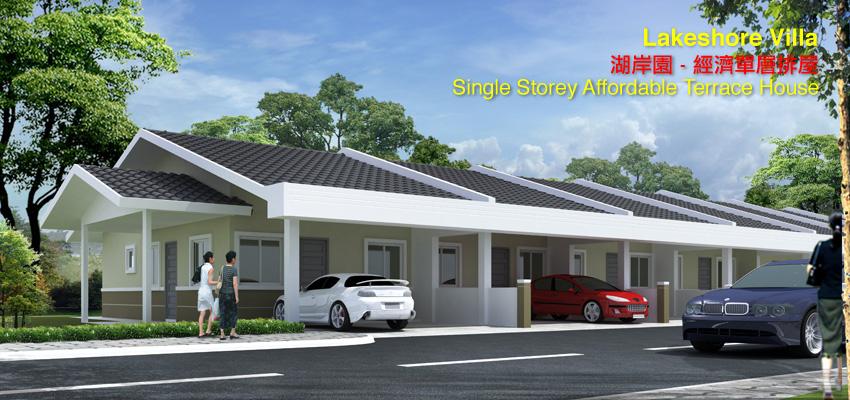 Lakeshore Villa Single Storey Affordable Terrace House