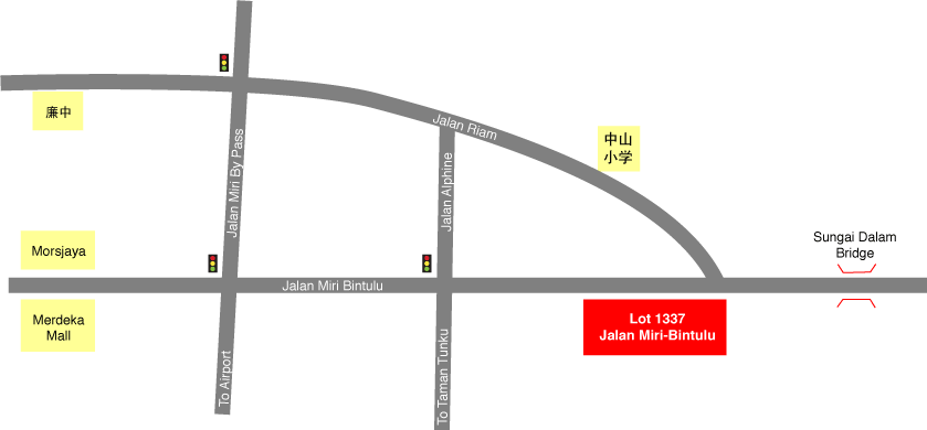 Location Map Lot 1337 Jalan Miri - Bintulu Ground Floor