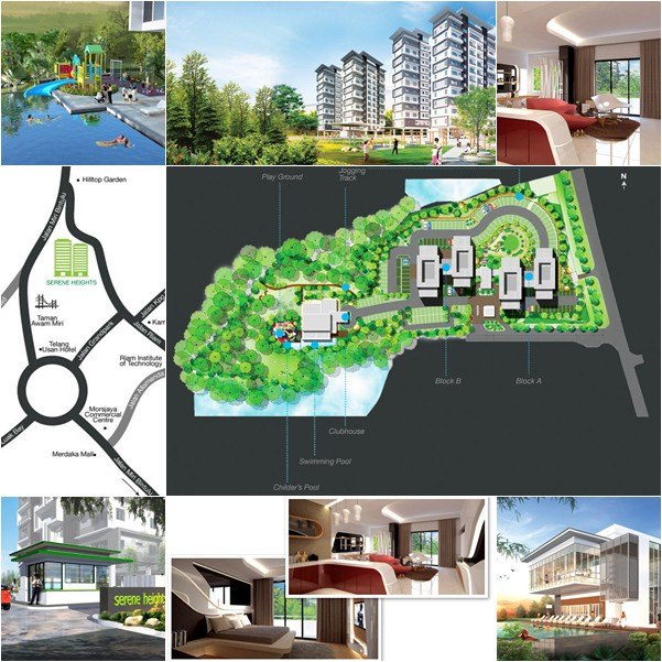 Serene Heights Condominium Miri Location Map