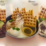ZenQ Matcha Honey Oreo Waffles
