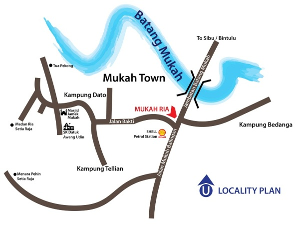 MukahRia location Map